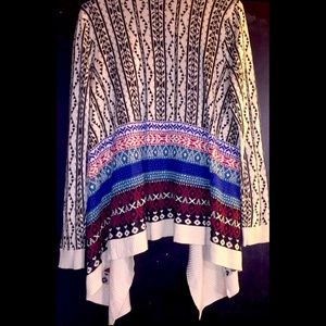 Cato; Tribal Print Pull Over